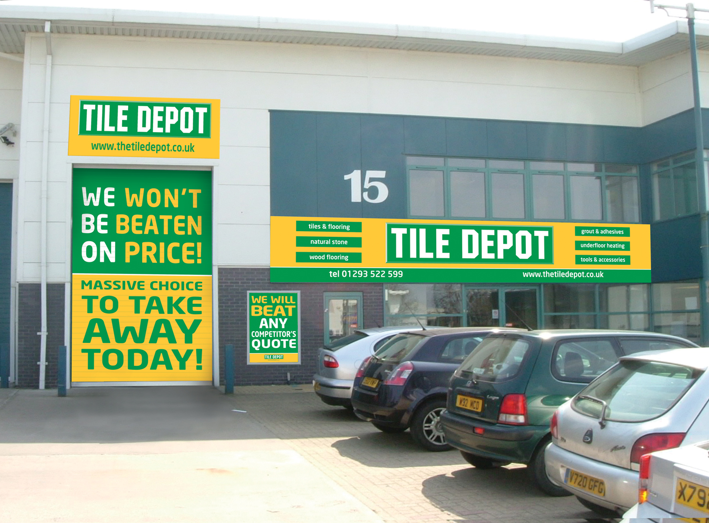 A feast for trades\' people at Tile Depot in Crawley and Aylesbury |