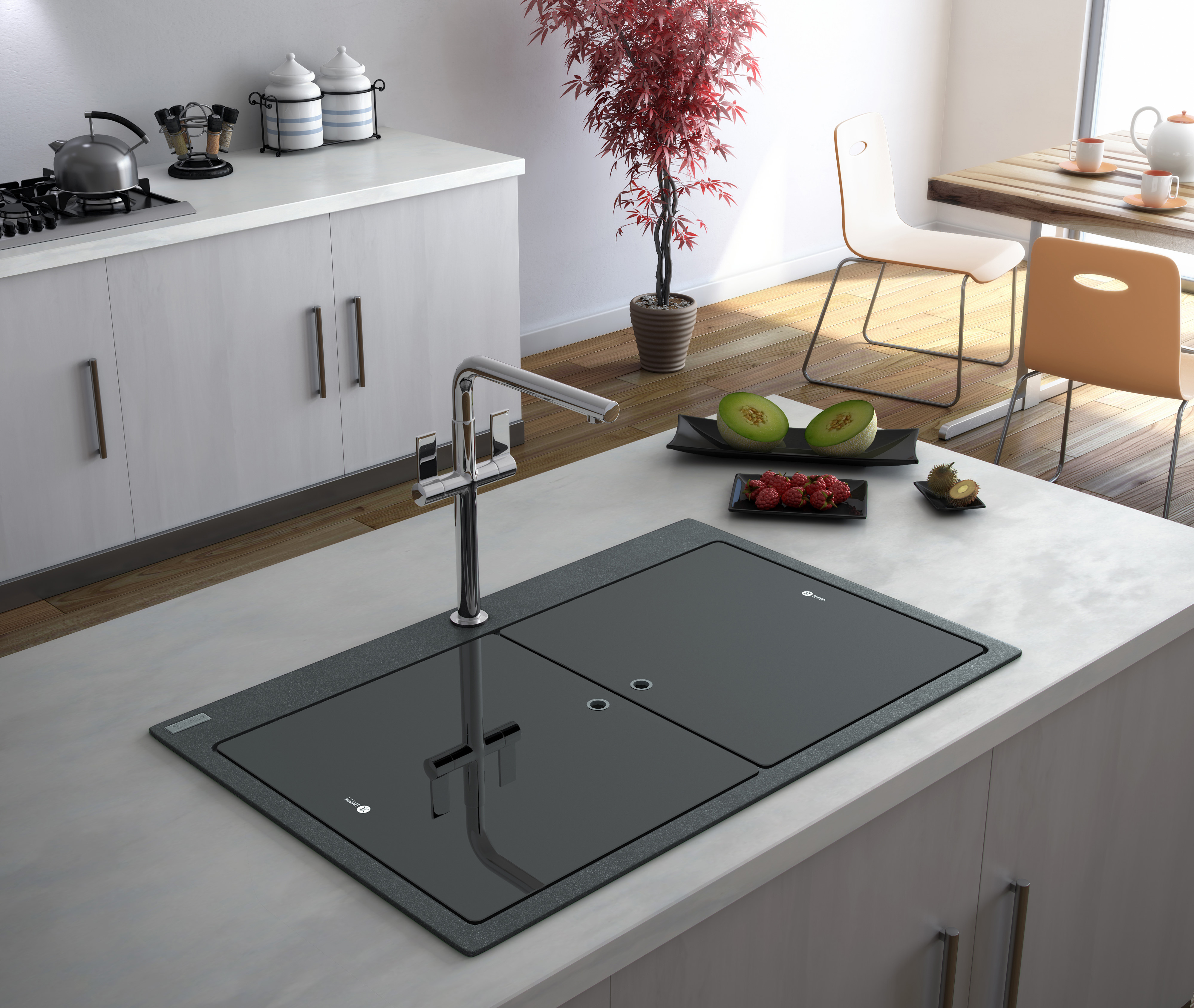 Marble Sink Kitchen : Samoa -the brand new granite sink from Carron Phoenix that?s hard ...