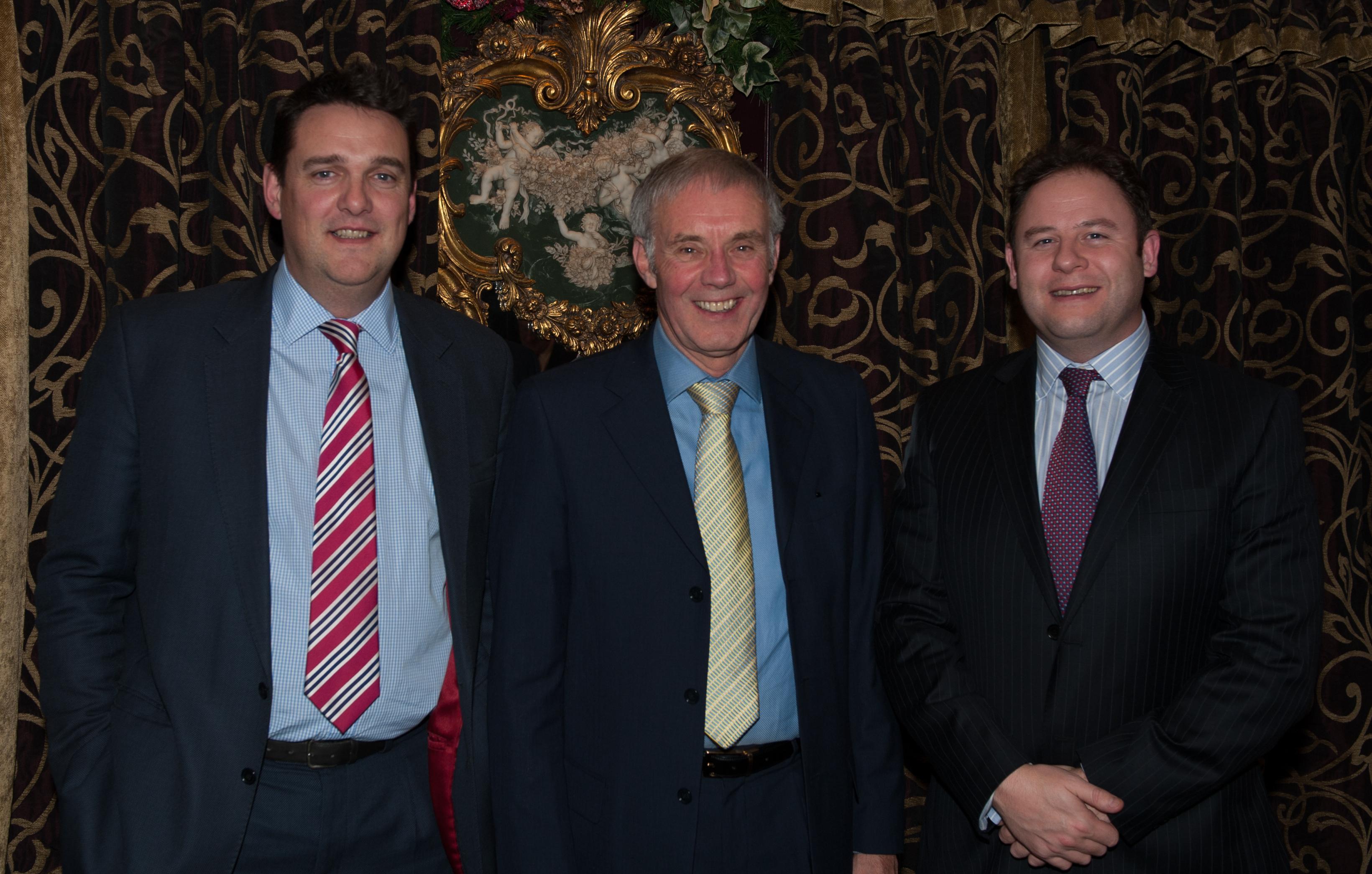Genial Left Is Richard Ellis, Centre Is David Hughes, Right Is Tom Ellis. Tom