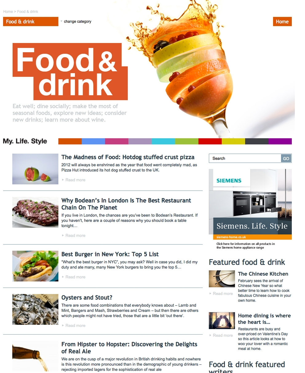 content food publications
